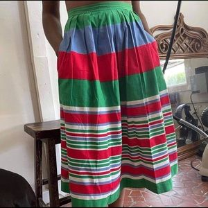 [Vintage] Multi Colored Striped 70s Skirt